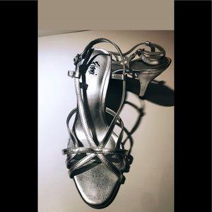 ☼4 for 20$☼Silver Sling-Back Heels